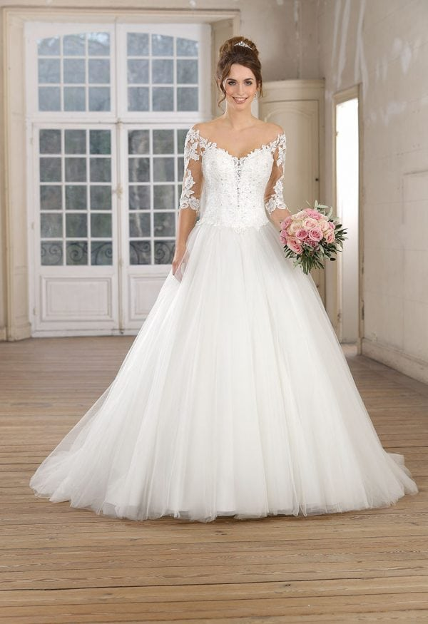 Très Chic TC9234 a-line ball gown with sleeves