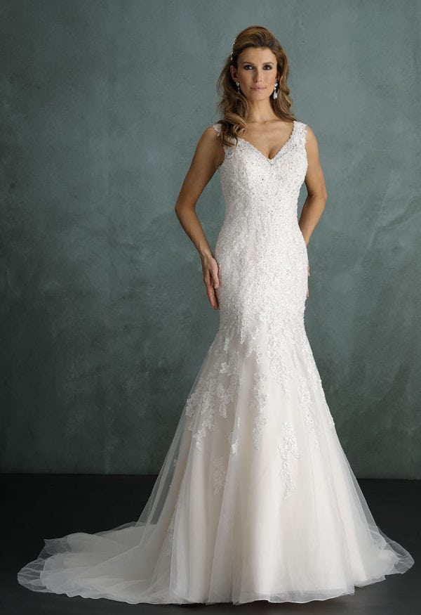 Pure PU9236 mermaid wedding dress with v-neck