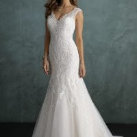 Pure PU9237 mermaid wedding dress with v-neck