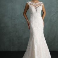 Pure PU9238 mermaid wedding dress with high neckline