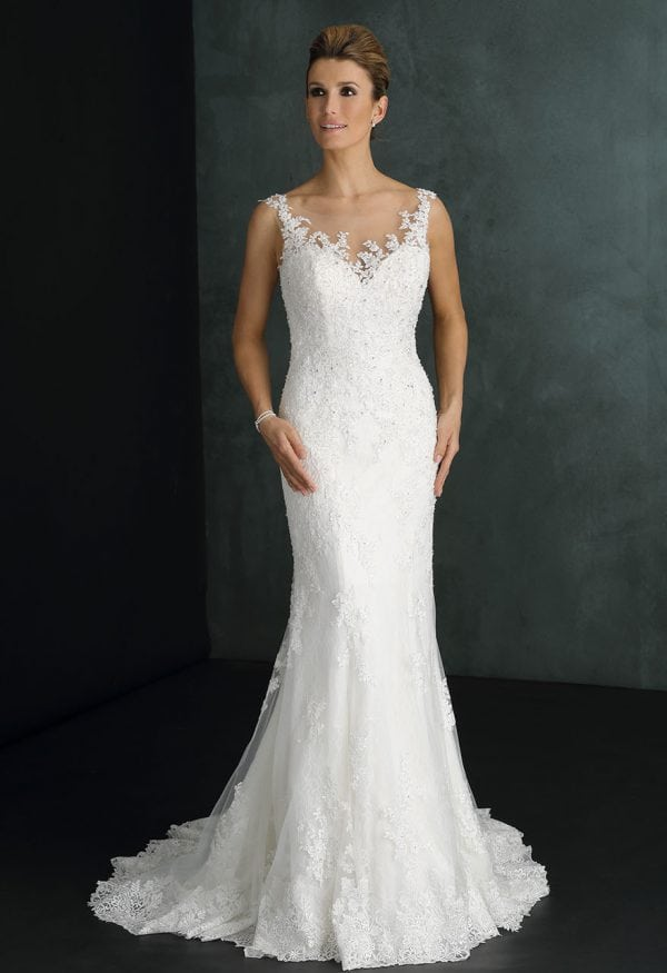 Pure PU9239 mermaid wedding dress with tulle