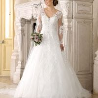 Très Chic SN9244 a-line ball gown with sleeves