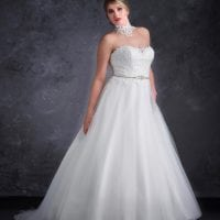 Miss Emily+ ME9248 long a-line ball gown with tulle