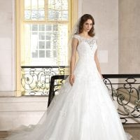 Très Chic SN9270 a-line ball gown with boat neck