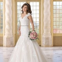 Très Chic TC9272 a-line ball gown with v-neck