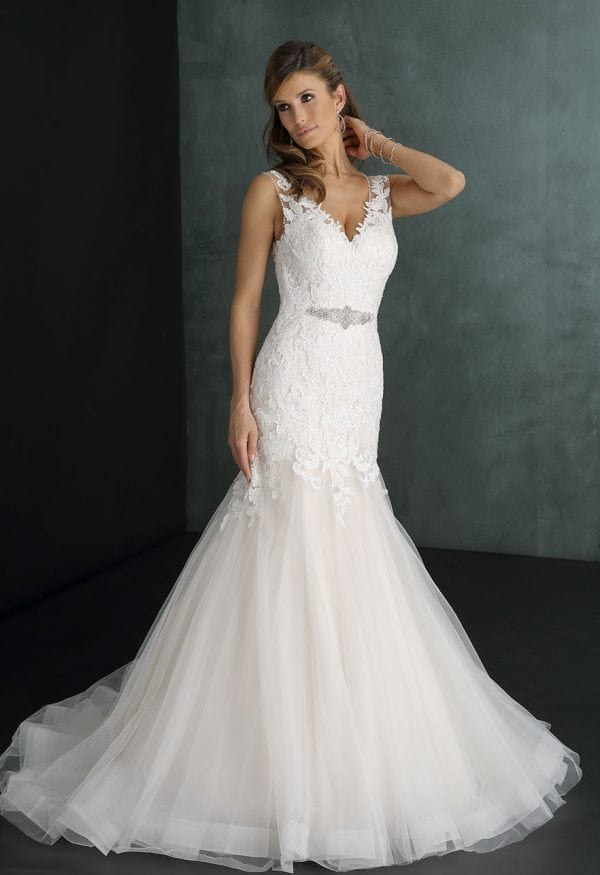 Pure PU9274 mermaid wedding dress with v-neck
