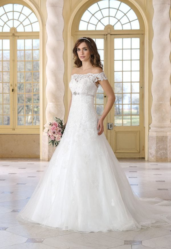 Très Chic TC9281 a-line ball gown off the shoulders