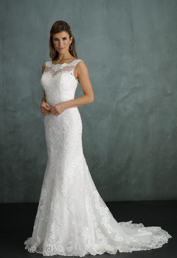 Pure PU9284 wedding dress with high neckline