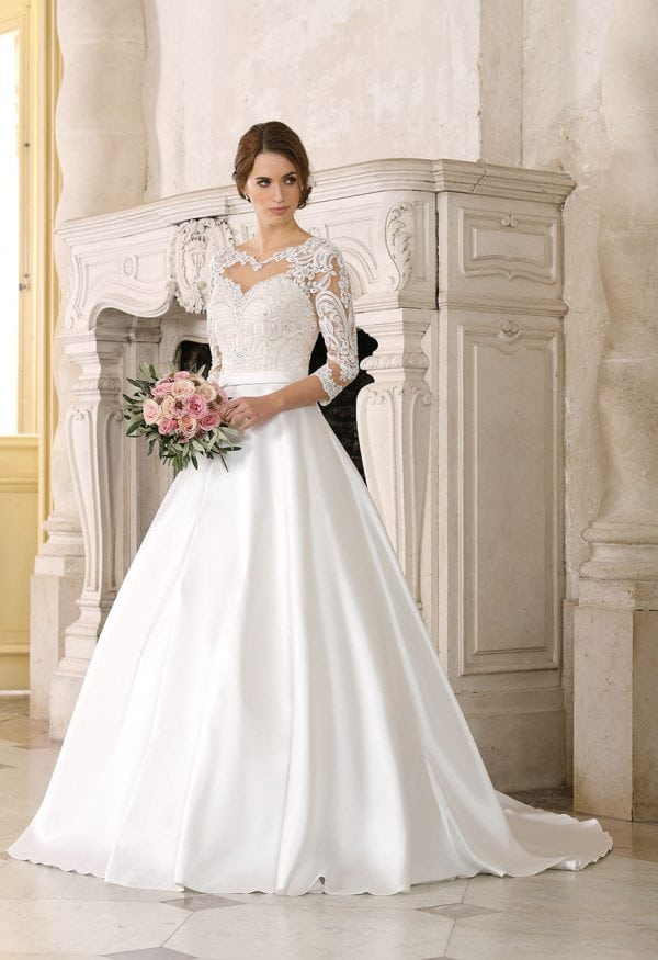 Très Chic TC9291 a-line ball gown with sleeves