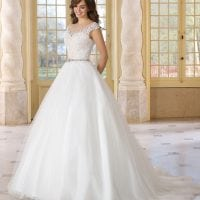 Très Chic TC9293 a-line ball gown with boat neck