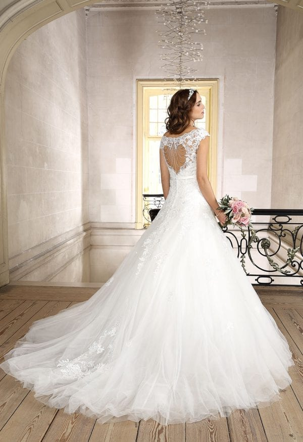 Très Chic TC9307 a-line ball gown off the shoulders backside