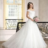 Très Chic TC9307 a-line ball gown off the shoulders