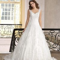 Très Chic TC9343 long a-line ball gown with tulle