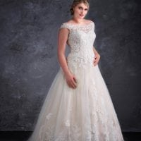 Miss Emily+ ME9348 a-line ball gown with tulle