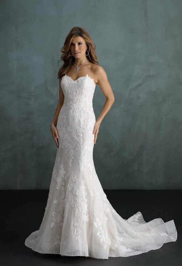 Pure PU9353 strapless mermaid wedding dress
