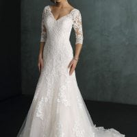 Pure PU9367 long wedding dress with sleeves