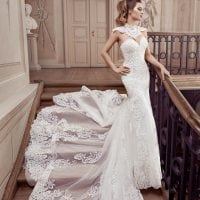 Elisabeth Grace EG9368 mermaid wedding dress with tulle