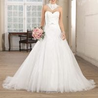 Très Chic TC9372 a-line strapless ball gown