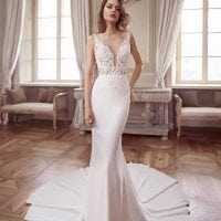 Elisabeth Grace EG9381 mermaid wedding dress with v-neck