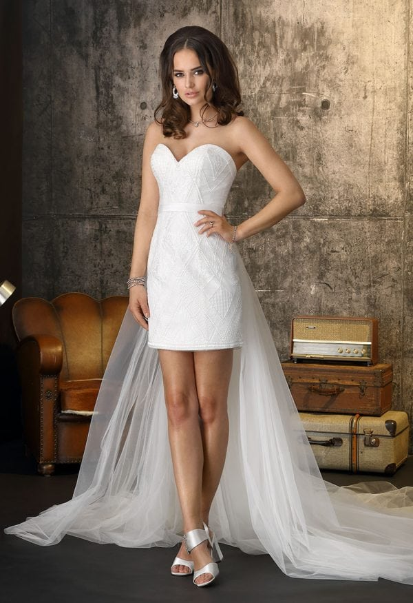 Brinkman BR9384 short a-line beach wedding dress