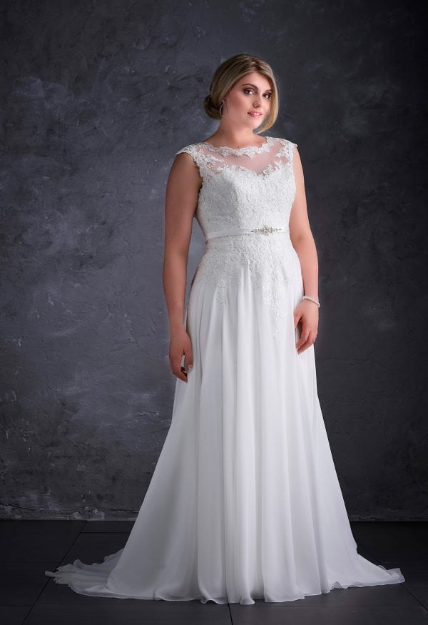 Miss Emily+ ME9385 vintage inspired wedding dress