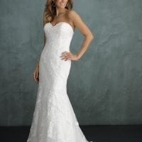 Pure PU9397 long wedding dress with tulle