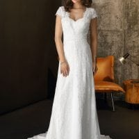Brinkman BR9419 long wedding dress with sleeves boho chic
