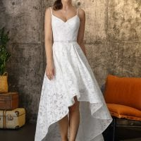 Brinkman BR9421 short a-line wedding dress boho chic