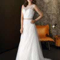 Brinkman BR9426 a-line wedding dress boho chic