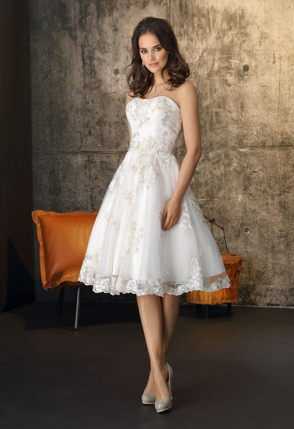Brinkman BR9430 short a-line wedding dress
