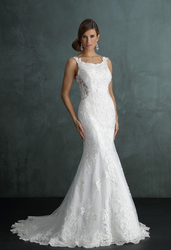 Pure PU9434 long mermaid wedding dress with tulle