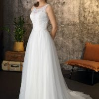 Brinkman BR9436 a-line wedding dress boho chic