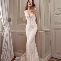 Elisabeth Grace EG9440 long wedding dress v-neck
