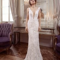 Elisabeth Grace EG9443 wedding dress v-neck