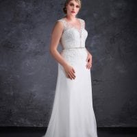 Miss Emily+ ME9449 plus size wedding dress long with tule