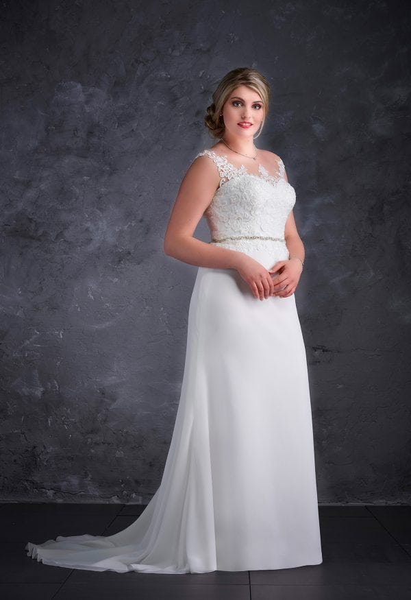 Miss Emily+ ME9450 wedding dress for Full figured bride