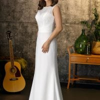 brinkman br9452 vintage wedding dress ivory white