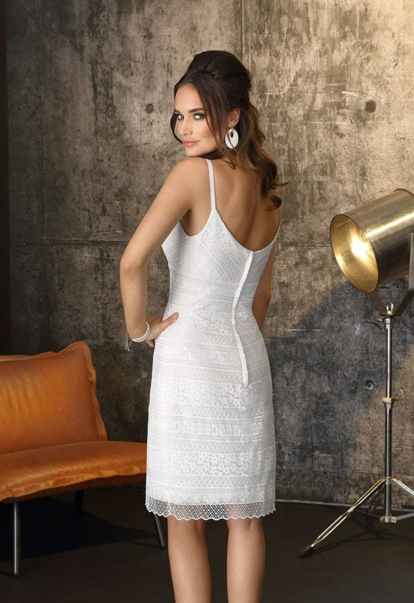 Brinkman BR9400 short a-line wedding dress backside