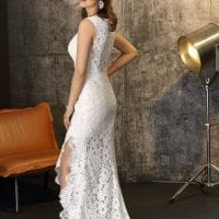 Brinkman BR9437 wedding dress Boho Chic backside