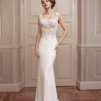 Elisabeth Grace EG9254 long casual wedding dress