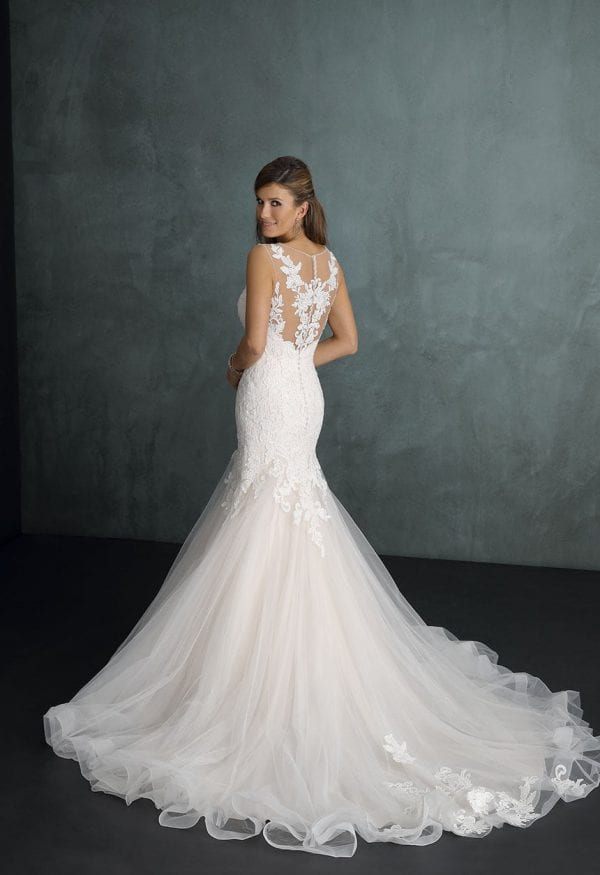 Pure PU9274 mermaid wedding dress backside