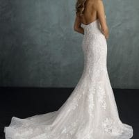 Pure PU9353 strapless mermaid wedding dress backside