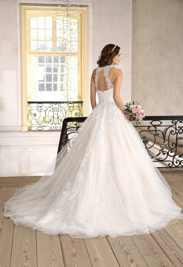Très Chic SN9268 a-line ball gown backside
