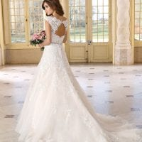 Très Chic TC9272 a-line ball gown backside