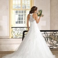 Très Chic TC9282 a-line ball gown backside