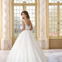 Très Chic TC9293 a-line ball gown backside