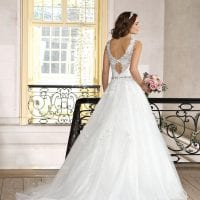 Très Chic TC9302 a-line traditional ball gown backside