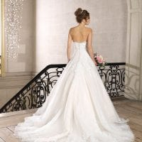 Très Chic TC9340 strapless a-line ball gown backside