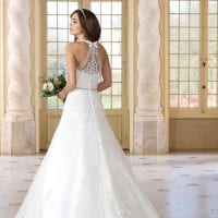 Très Chic TC9344 a-line long ball gown backside