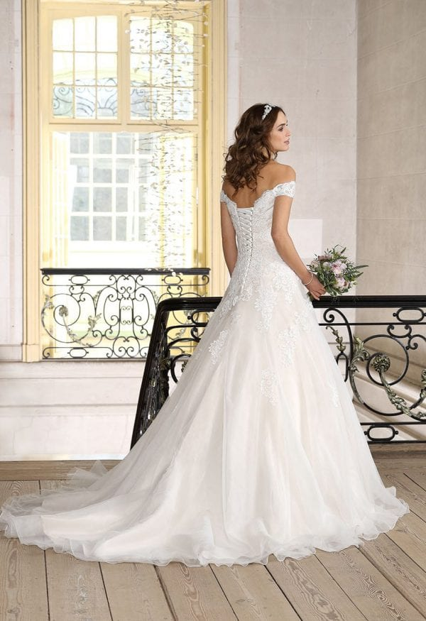 Très Chic TC9232 a-line ball gown backside